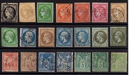 TIMBRES CLASSIQUES FRANCE -  1849 / 98  -  Cérès , Napoléon , Sage , Divers Timbres De 1er Et 2ème Choix . - 1849-1850 Ceres