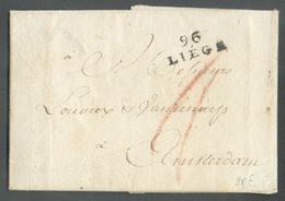 Lac De 96/LIEGE Le 29 Mars 1803  Vers Amsterdam; Port 'II'.  Superbe - 14840 - 1794-1814 (Période Française)