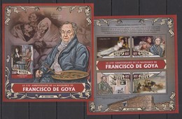 ST1841 2016 NIGER ART PAINTERS 270TH ANNIVERSARY FRANCISCO DE GOYA KB+BL MNH - Art