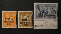 Germany - 1923 - Mi:DR 258-9, Sn:DE B5-6, Yt:DR 251,251A**MNH+Mi:DR 260*MH - Look Scan - Neufs