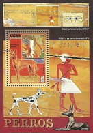 Cuba 2010 Animals Dogs And Art Mammals Paintings Cultures Fauna Animal Mammal Dog Painting Culture S/S Stamps MNH - Art