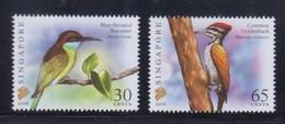 Singapore 2007 Birds Definitives 30c-2007B, 65c-2007D Imprints 2v MNH - Singapore (1959-...)