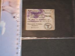 BAHNAUSWEIS N°11319 - LICHBILDAUSWEIS 60605- WERMACHT-VERKEHRS DIREKTION BRUSSEL - 1939-45