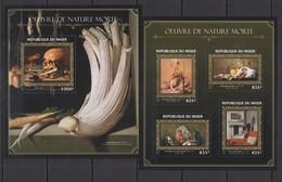 ST1878 2016 NIGER ART PAINTINGS OUEVRE DE NATURE MORTE KB+BL MNH - Art