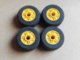 4 Roues Lego Technic Jaunes 30.4x14 - Lego Technic