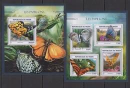 ST1883 2016 NIGER FLORA & FAUNA BUTTERFLIES LES PAPILLONS KB+BL MNH - Butterflies