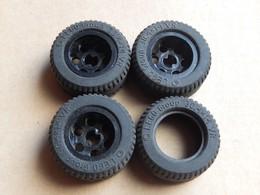 3 Roues Lego Technic Noires 30.4x14 VR + 1 Pneu 3 € - Lego Technic