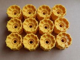 12 Roues Lego Technic Jantes Jaune Chenilles - Lego Technic