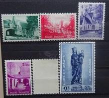 BELGIE 1954    Nr. 946 - 951   Licht Spoor Van Scharnier *    CW  92,50 - Belgique