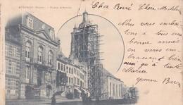59 / AVESNES / PLACE D ARMES/CLOCHER REOARATION / ECHAFFAUDAGE /  PRECURSEUR 1900 - Avesnes Sur Helpe