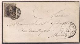 BRIEF N°10 D18 BRASSCHAAT-17.9.1862-BESTEMMING ANVERS - 1858-1862 Médaillons (9/12)