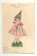 Baromètre Fantaisie ( Grandeur Carte Postale ) La Robe De La Fillette Change De Couleur...Découpis, Relief,... (y167) - Postcards