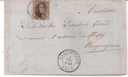BRIEF P70 FARCIENNES-N°14-4 NOV 1863-BESTEMMING BRAQUEGNIES - 1863-1864 Medallions (13/16)