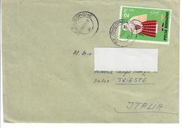 ROMANIA 1973 - BUSTA VIAGGIATA DA SFANTU GHEORGHE A TRIESTE ITALIA - Cartas