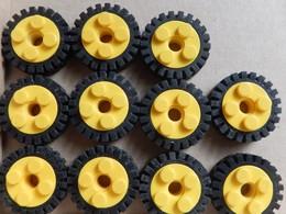 11 Roues LEGO Technic Jaune 6248 - Lego Technic