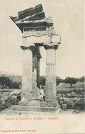 Girgenti. Agrigente Tempio Di Castor E Polluce. Castor Et Pollux.  Undivided Back . Edit. Crupi Taormina - Agrigento