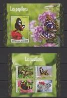 ST1965 2016 NIGER FLORA & FAUNA BUTTERFLIES LES PAPILLONS KB+BL MNH - Butterflies