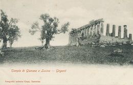 Girgenti. Agrigente Tempio Di Giunone E Lucina.  Undivided Back . Edit. Crupi Taormina - Agrigento