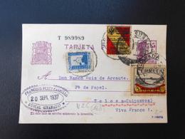 Espana : Tarjeta Postal / Guerra Civil 1937 - Stamped Stationery