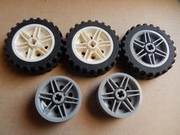 3 Roues LEGO TECHNIC 43,2 X 28 + 2 Jantes - Lego Technic