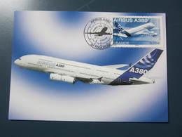 Carte Premier Jour AIRBUS A380 2006 - 1946-....: Era Moderna
