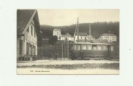 SUISSE - HAUTS GENEVEYS - Joli Plan Tramway Devantbuffet Restaurant Animé Bon état - NE Neuchâtel