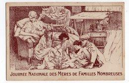ILLUSTRATEUR H. DE NOLHAC * JOURNEE NATIONALE MERES FAMILLES NOMBREUSES * DESSIN SEPIA * ENFANTS * Machine Coudre * - Illustrators & Photographers