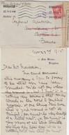 LETTRE. 34 11 15. BRIGHTON POUR CAPORAL AMBULANCIER 1/85 SECTEUR 26 FRANCE. BANDE CENSURE. CORRESPONDANCE - 1902-1951 (Rois)