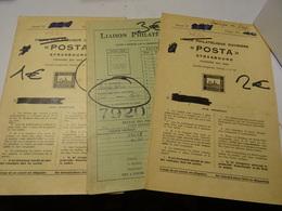 TIMBRES MONDE Dans 3 Cahiers Liaison  Et Union  Philatelique Ouvrière STRASBOURG 1963 - Collections (with Albums)