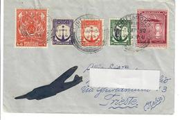 PAKISTAN 1952 - BUSTA VIAGGIATA DA CHITTAGONG (BANGLADESH)  A TRIESTE ITALIA - POSTA AEREA - Pakistan