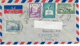 PAKISTAN 1959 - BUSTA VIAGGIATA DA MULTAN CITY   A TRIESTE ITALIA - POSTA AEREA - Pakistan