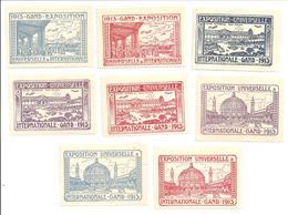 Gent-Gand Expo Universelle & Internationale 1913.8 Sluitzegels O.a. Vliegtuig- Ballon - Sonstige