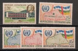 Centrafricaine - Année Complète 1961 - N°Yv. 13 à 17 - Complet 5 Valeurs - Neuf Luxe ** / MNH / Postfrisch - Centraal-Afrikaanse Republiek