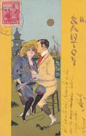 CPA Illustrée JAPON En 1904 - SANTOY - Couple Devant Une Pagode - Japon