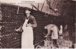 26524Epernay, La Champagne Travail Du Vin De Champagne – L'Entreillage - Epernay
