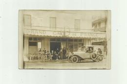 CARTE PHOTO - A Identifier Non Situé Superbe Devanture Grand Café De France Et Voiture Publicité Le Nil Bon état - Te Identificeren