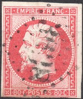 NAPOLEON ND N° 17Ba ROSE VIF OB. GC B COTE > 100 € - 1853-1860 Napoleon III