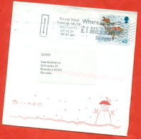 Great Britain 2001. Christmas Stamp.The Envelope Past Mail. With Special Stamp. - 1952-.... (Elizabeth II)