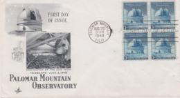 USA FDC 1948 Palomar Mountain Observatory (G107-30) - Astronomy