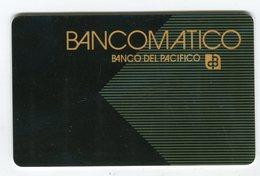 Telecarte°_ Bancaire Jetable-Bancomatico-Del Pacifico- R/V - échantillon Factice S.N - Francia