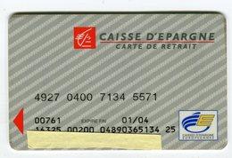 Telecarte°_ Bancaire Jetable-Caisse D'Epargne-CEE-WW-01.04- R/V 571 - Francia