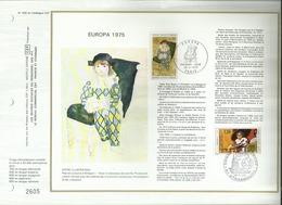 N° 306 DU CATALOGUE CEF . EUROPA  . CONSEIL DE L'EUROPE . 26 AVRIL 1975 . PARIS & STRASBOURG . - FDC