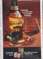 (pagine-pages)PUBBLICITA' BRANDY FLORIO  Tempo1969/19. - Livres, BD, Revues