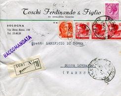 Italia (1965) - Raccomandata Da Bologna - 6. 1946-.. Repubblica