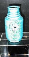 VASE EN CERAMIC BLEU  DE ALDO LONDI ** RIMINI BLU ** SERIE POUR BITOSSI - CIRCA 1960. - Ceramics & Pottery