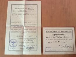 Gerolstein  Permis De Pêche De 1938 - Oude Documenten