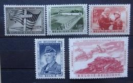 BELGIE 1957    Nr. 1032 - 1036       Postfris **      CW 30,00 - Belgique
