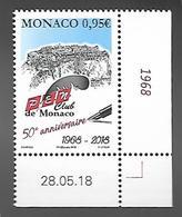 Monaco 2018 - Yv N° 3156 ** - 50e ANNIVERSAIRE DU P.E.N. CLUB - Unused Stamps