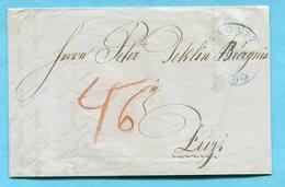 Faltbrief Von Ragaz Nach Zuz 1850 - Suisse