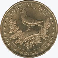 55 MEUSE VAUX DEVANT DAMLOUP FORT DE VAUX CASQUE PIGEON 1914 1918 MÉDAILLE MONNAIE DE PARIS 2015 JETON TOKEN MEDAL COIN - Monnaie De Paris